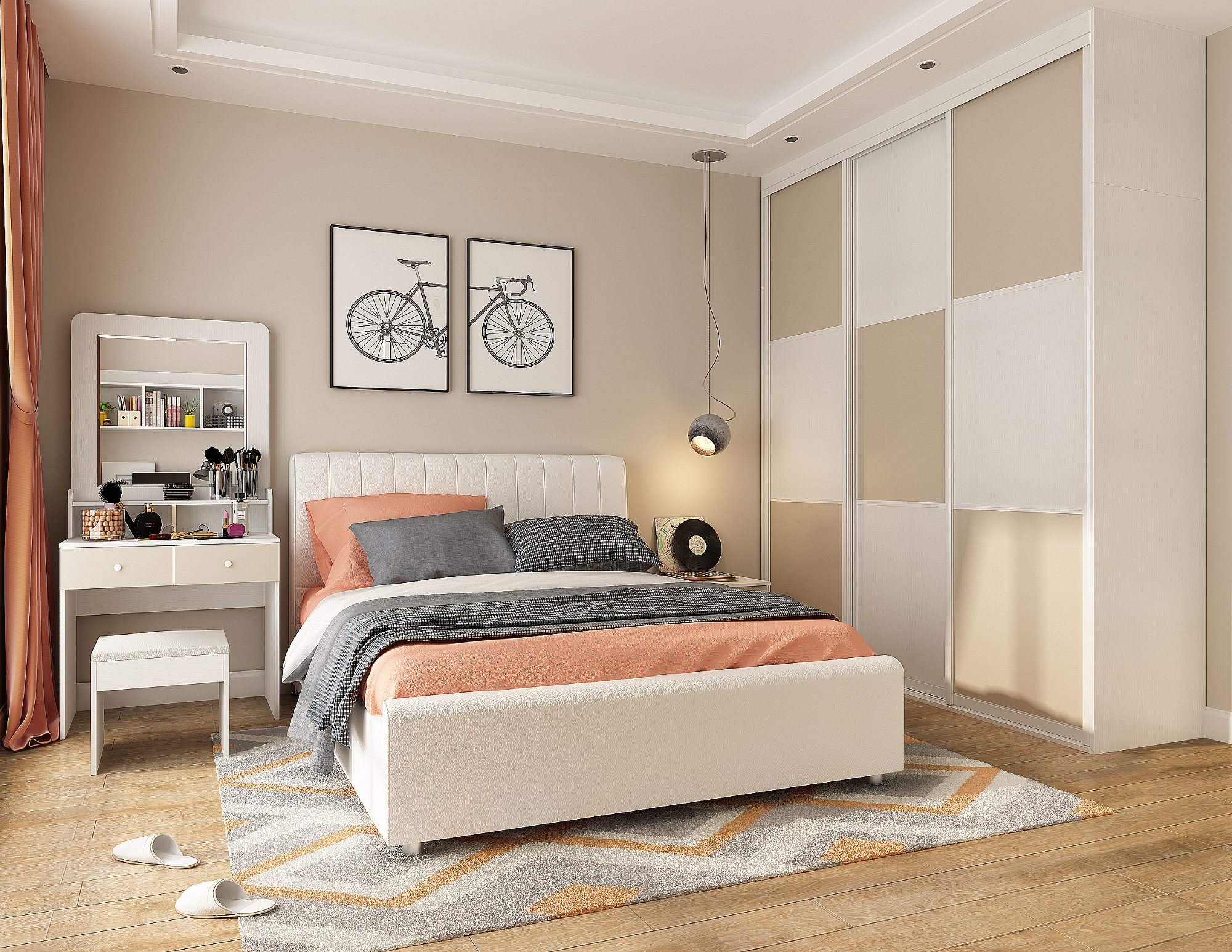 The Secret to the Decoration of Small-sized Bedroom. How to Design a 10㎡ Bedroom?