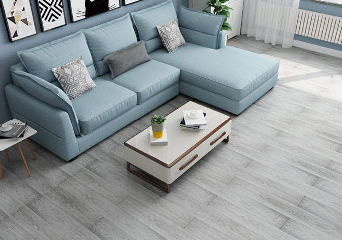 White & Gray Color European Standard Waterproof Flooring (WDA-1801A)