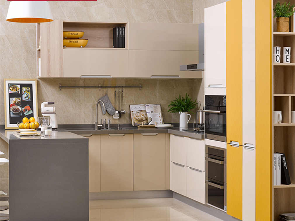 L-shaped kitchen interior design