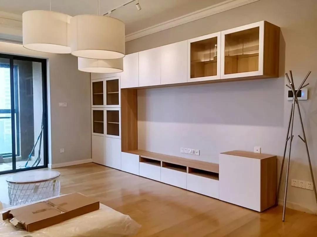 White Wooden Cabinets Make Your Small House More Comfortable