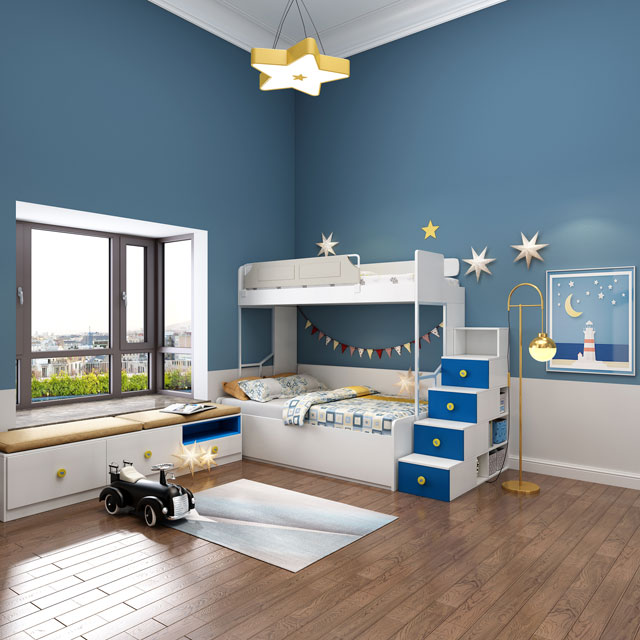 The Children's Room Can Be Designed In This Way to Double the Storage